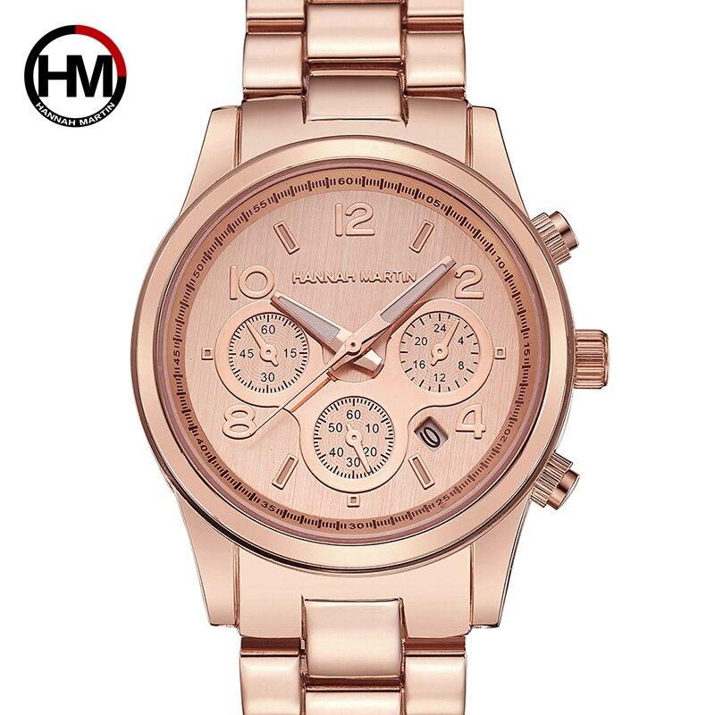Hannah Martin Women's Watch Top Brand Luxury Fashion Gold Ladies Watch Women Watches Clock relogio feminino reloj mujer