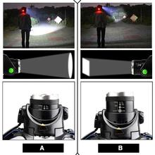 Headlight 3 Modes Torch Bicycle Bike Running Headlamp Portable 800LM Hiking Sporting Goods Head Torch Lamp Fishing Camping