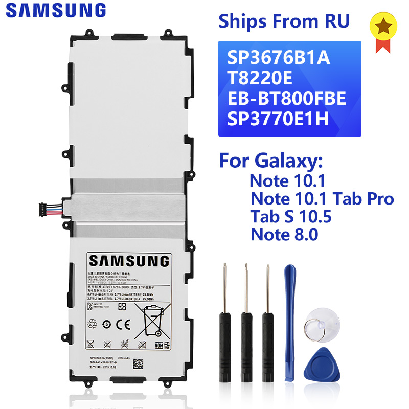 SAMSUNG Original Battery SP3676B1A For Samsung Galaxy Note 10.1 GT-N8000 P7500 P600 SM-T520 Tab S 10.5 T800 Note 8.0 GT-N5100