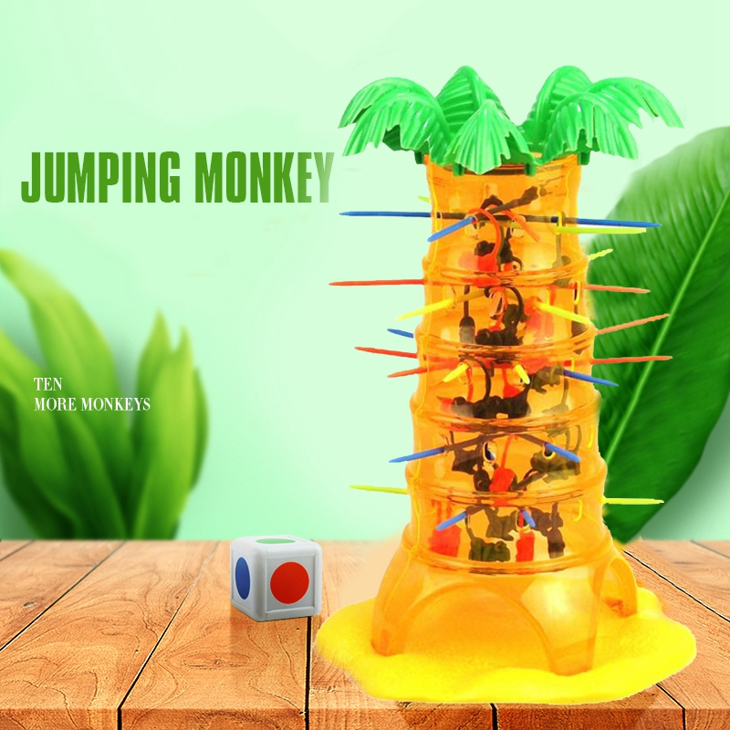Falling Tumbling Monkey Family Toy Climbing Board Game Kids Toy