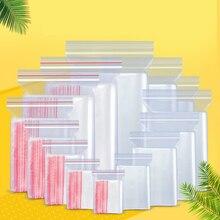500 шт./упак. небольшой замок типа молния Пластик мешки вакуумного хранения сумка многоразового прозрачная сумка мешок для обуви поли прозрачные Кондитерские мешки ювелирные изделия мешки Ziplock