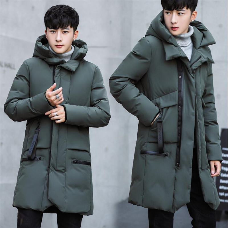 2019 New Arrival Winter Jackets For Men Think Warm Windproof Soft Cotton-padded Coat Winter Men Casual Long Sleeve Loose Hooded