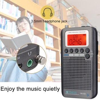 Портативный радиоприемник RETEKESS TR105 FM/AM/SW/CB/Air VHF World Band 3