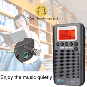 Image 3 - Retekess TR105 Portable AIR Band FM/AM/SW/CB/AIR/VHF Digital Tuning Radio with Timer ON/OFF Clock Function