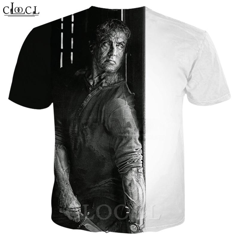 Rambo T Shirt Men Women 3D Print Last Blood Short Sleeve Cool T Shirt Sweatshirt Hippie Hipster Streetwear Pullovers B363 1
