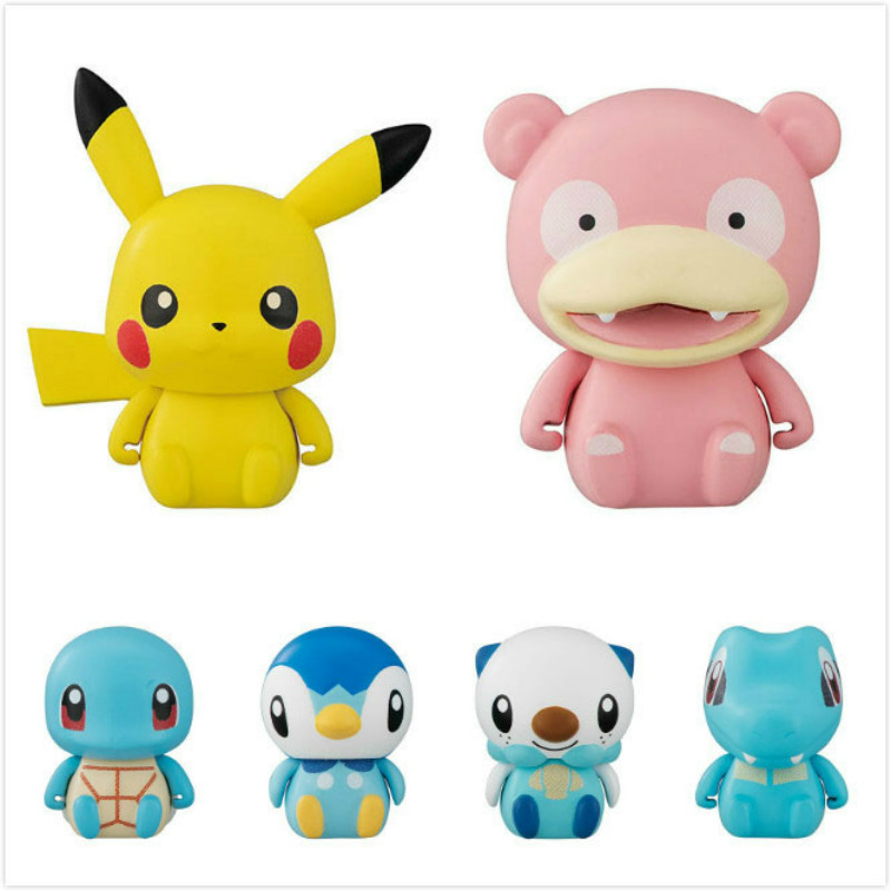 Tomy Pokemon 4-6cm Charmander Popplio Litten Pikachu Rowlet Treecko Eevee Fennekin Greninja Anime Action Figure Dolls Toy 2