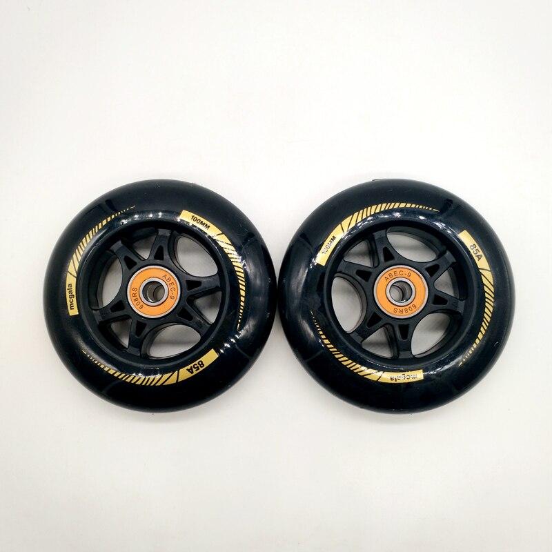 free shipping scooter wheel 100*24 mm 2 pcs / lot bearings ABEC-9 110*24 MM