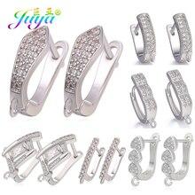 Juya DIY женские модные висячие серьги, аксессуары для изготовления золотых/серебряных креативных левербэк ушные проволочные серьги, крюковые застежки