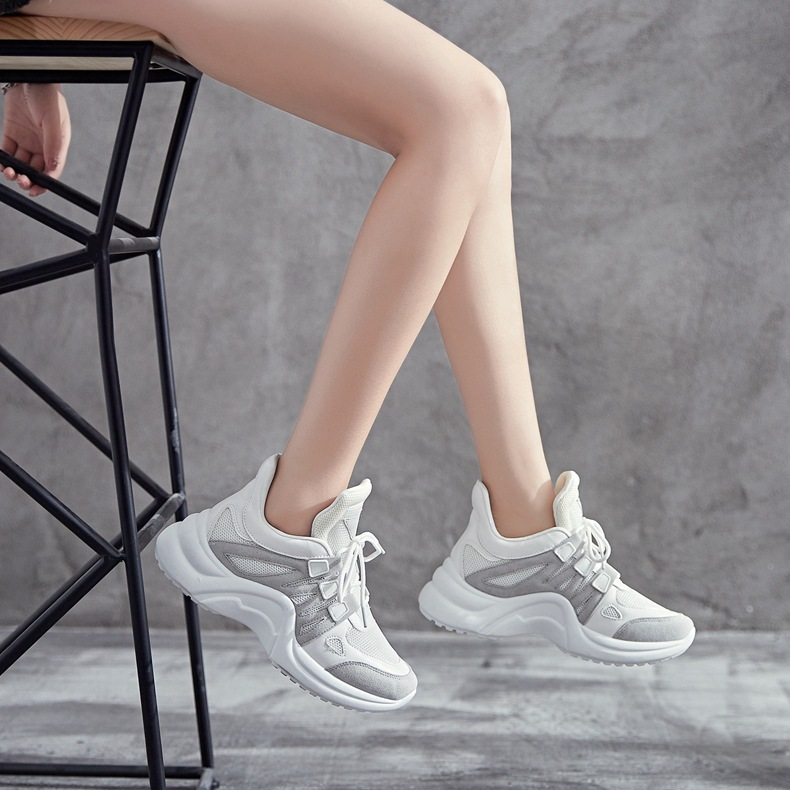 H99067a611028495b947f0611d87af39aX - Fujin Sneakers Women Breathable Mesh Casual Shoes Female Fashion Sneaker Lace Up High Leisure Women Vulcanize Shoe Platform