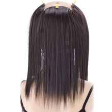 Allaosify One Piece Strips Colored Highlight Synthetic Hair Extensions Clip In Ombre Long Straight Hairpiece for Fans Clip Ins(China)