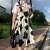 QWEEK Women's Kawaii Cow Print Dress Lolita Milk Cute Sundress Japanese Harajuku Style Cute Kawaii Lolita Dress Outfit Mori Girl 5