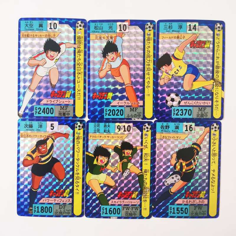 9pcs/set Soccer Captain Tsubasa Ozora Tsubasa World Youth Toys Hobbies Hobby Collectibles Game Collection Cards Free Shipping