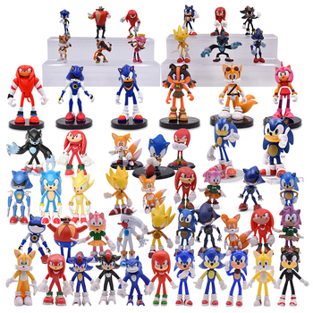 12Style Anime Sonic Action Figure Sonic Toy Pvc Toy Sonic Shadow Tails Characters Figure Toys For Children Set kids недорого