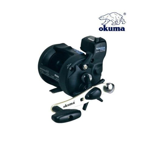 okuma 2bb 5 1 1 tambor roda carretel de pesca com linha contador liga de