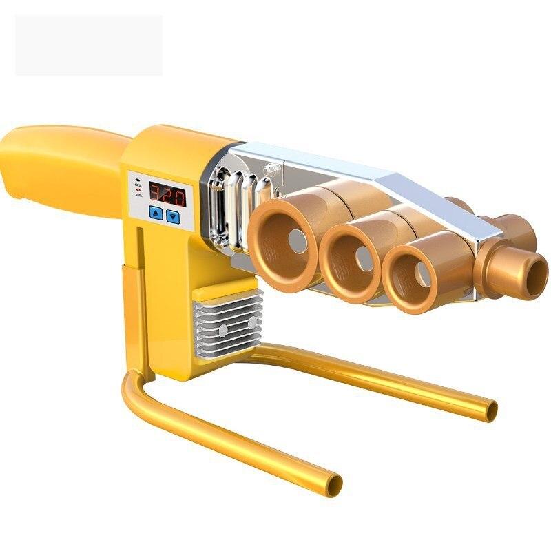 Двойной контроль соединения штепсельной вилки PPR трубы нагреватель плавленой трубы машина расплава термобелье инструмент сварные трубы бытовой на