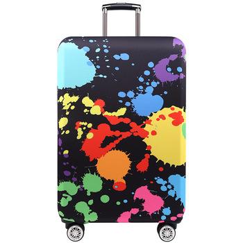 TRIPNUO grubszy niebieski miejski pokrowiec na bagaż podróżny pokrowiec ochronny na walizkę do bagażnika zastosuj do 19 #8221 -32 #8221 pokrowiec na walizkę tanie i dobre opinie Poliester 20cm Akcesoria podróżnicze 26cm AT2083 0 25kg Klapy Bagażnika Polyester Animal prints