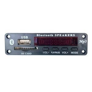 Image 2 - Wireless Bluetooth 5V 12V MP3 Decoder Board MP3 Audio Player Module Support USB SD AUX FM Audio Radio Module For Car accessories