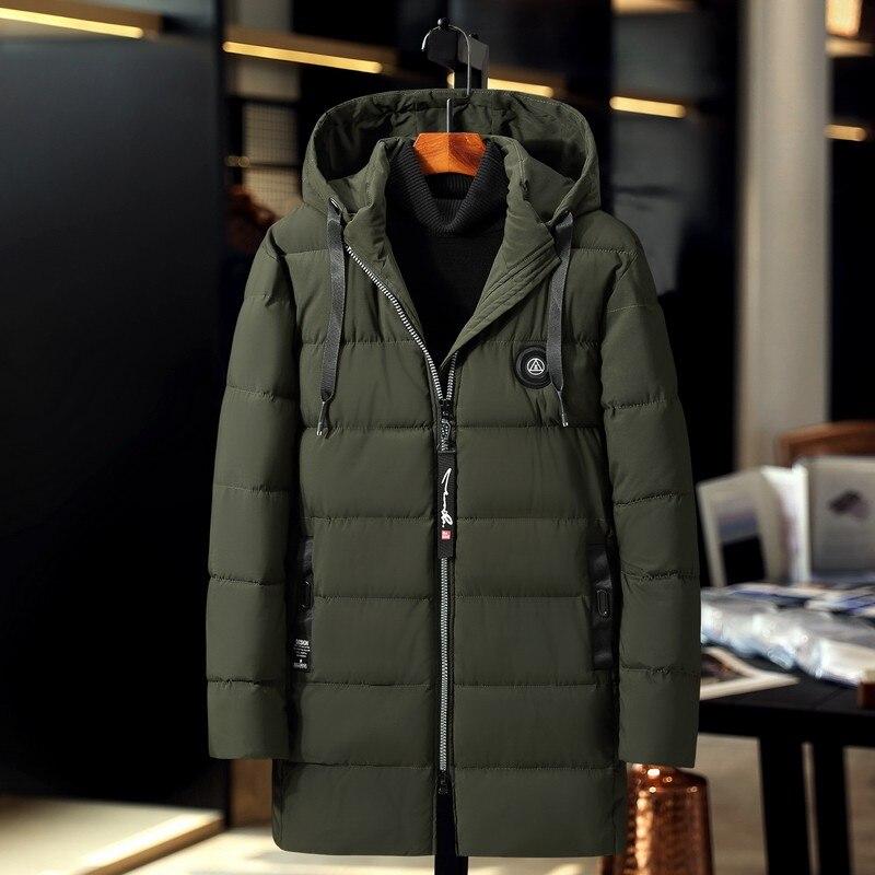 Распродажа 2019, ветронепроницаемая Хлопковая мужская длинная куртка, большой размер, зимнее пальто, толстая свободная парка, новая Толстая теплая ветровка