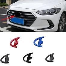 Etiqueta traseira dianteira do crachá do carro do abs para hyundai mistra 2014-2019 lafesta 2019 cabeça cauda tronco volante emblema acessórios