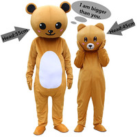 Bear Mascot Costume Suits Cosplay Party Game Dress Outfits Clothing Advertising Carnival Halloween Xmas Easter Festival Adults