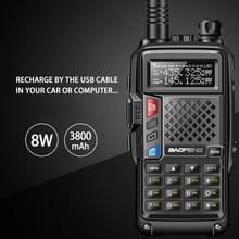 BaoFeng BF UVB3 Plus 8W Powerful Walkie Talkie cb ham Two Way Radio 128CH 136 174Mhz & 400 520Mhz 10KM Long Range Upgrade UV 5R