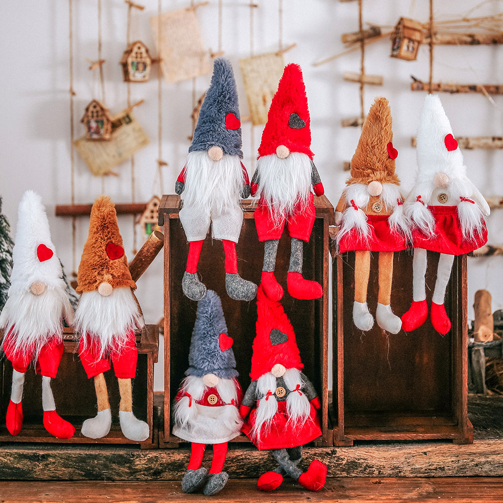 Christmas decoration articles down hat tie beard hang leg forest man put old little doll christmas decorations for home