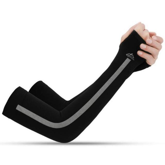 2 pçs mangas de braço unisex manga protetor solar proteção uv gelo legal ciclismo correndo pesca escalada condução braço capa 4