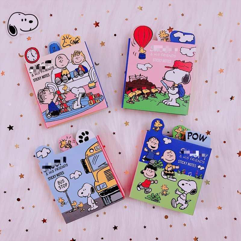 120 Pages Rogue Dog Cartoon Six-fold Office N Post Note Paper Cute Sticky Notes Planner Stickers Memo Pad  Student Stationery