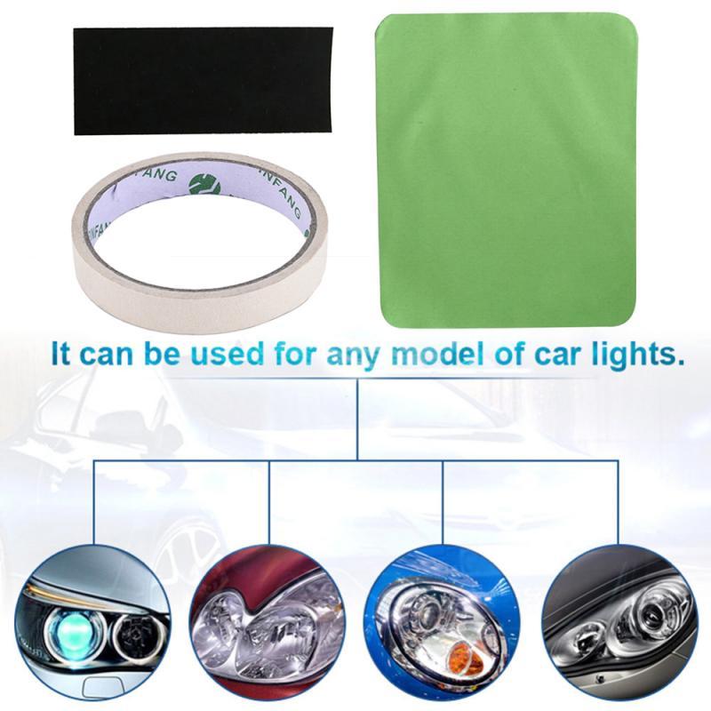 HGKJ Window Repair Car Headlight Repair Renovation Tool Car Polishing Repair Kit Wipe Cloth Sandpaper