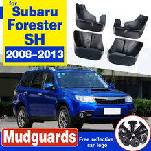 Set Car Mud Flaps For Subaru Forester SH 2008 2009 - 2013 Mudflaps Splash Guards Mud Flap Mudguards Fender Front Rear 2010 2012 for subaru forester 2009 2012 car trunk mat element nlc4608b13