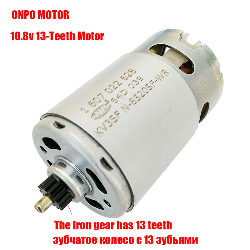 Maintenance of ONPO 13Teeth KV3SFN-8520SF-WR 1607022628 motor for Replace Bosch GSR10.8-2-LI electric drill motor
