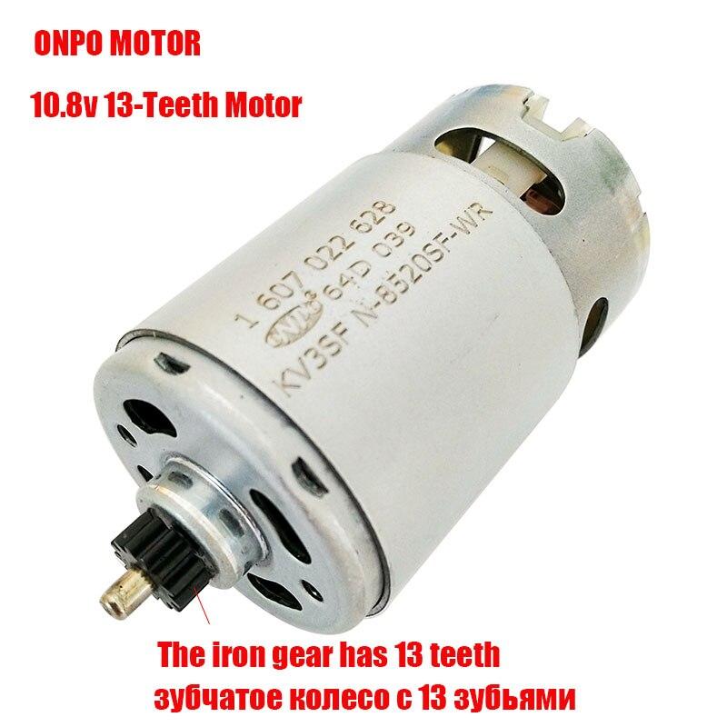 Maintenance Of ONPO 13Teeth KV3SFN-8520SF-WR 1607022628 Motor For Replace Bosch GSR10.8-2-LI Electric Drill Motor