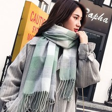 Fashion Female Cashmere-like? Scarf With Patchwork Pattern For  Ladies Women Accessories Luxury Plaid  Blanket Scarf Shawls And
