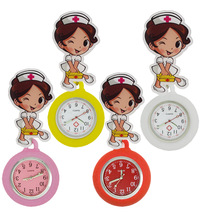 Pocket-Watches Nurse-Doctor Women Hospital Ladies Medical-Box Silicone Cartoon Cute Badge
