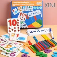 Игрушки Монтессори для детей Математика раннего развития подсчет