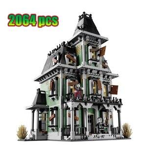 Lepinblock Lepining City Monsters Fighter дом с привидениями пожарная штаб-квартира строительные блоки игрушки из фильма детские подарки 10228