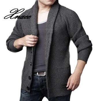2020 Men Sweater Coat Plus Size Cardigans Men Casual Sweater Thick Warm Autumn Winter Male Single Breasted Cardigan Xnxee fat mm sweater 2017 autumn winter the new fashion loose cardigan hooded thick knitting casual ms sweater coat m 5xl plus size a