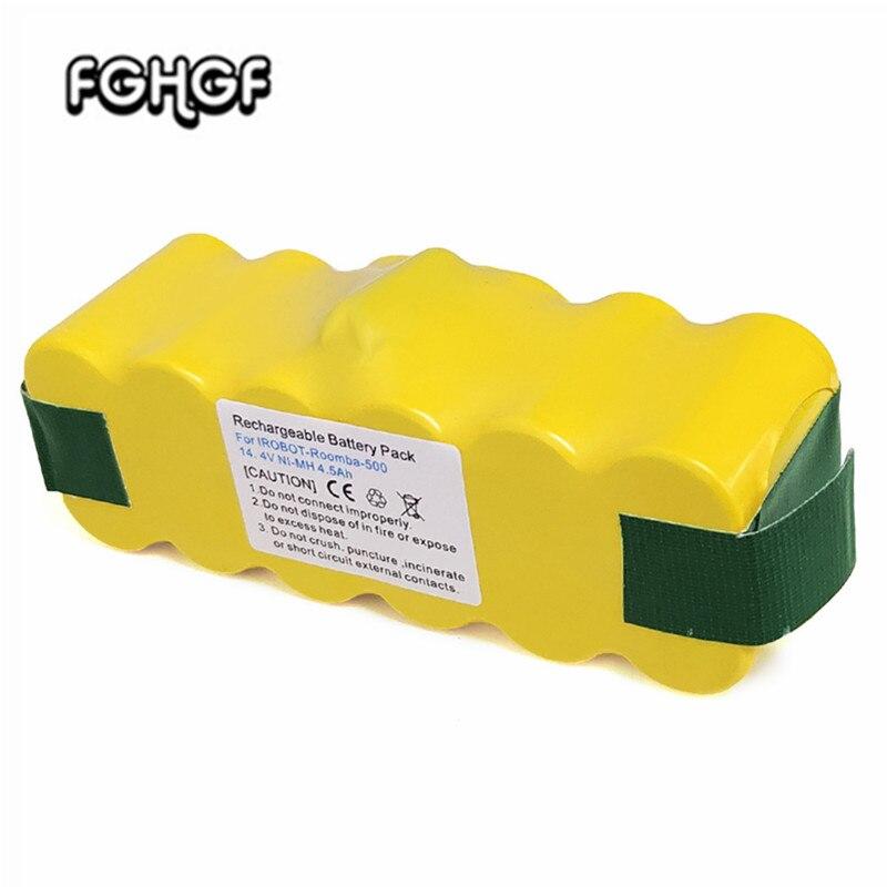 14.4V 4500mAh NI-MH Battery For IRobot Roomba 500 560 530 510 562 550 570 581 610 650 790 780 532 760 770 Vacuum Cleaner