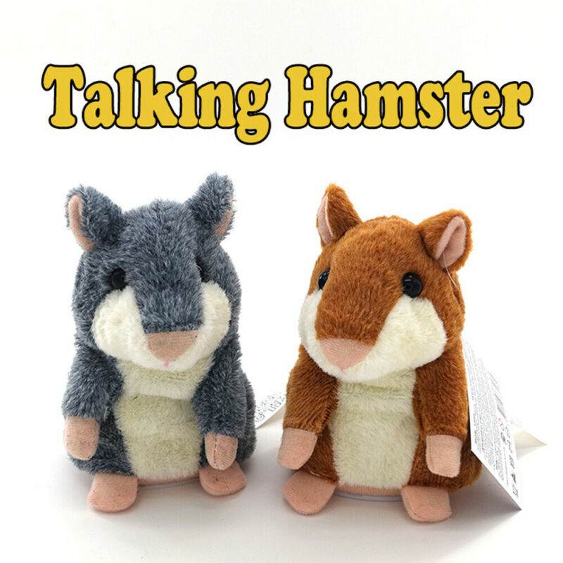 Animal Vocal Toys Adorable Speak Talking Record Nod Hamster Mouse Plush Kids Toy Gifts
