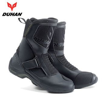 DUHAN Motorcycle Boots Motorcycle Road Racing Motorcycle Shoes Bota Motociclista Moto Motocross Riding Boots for Men probiker ankle leather motobotinki motorcycle boots men racing bota moto motor bike shoes motorboats for motocross black