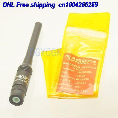 DHL 50pcs Antenna NAGOYA NA-773 Dual-band 144/430MHZ BNC Male For HandHeld Radio Antenna 22-a