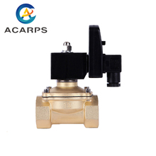 цена на Water Air Solenoid Valve with Timer  220v 110v 24v Normally Closed 3/8 1/2 3/4 1-1/4 1.5 2 Brass Electric Valve