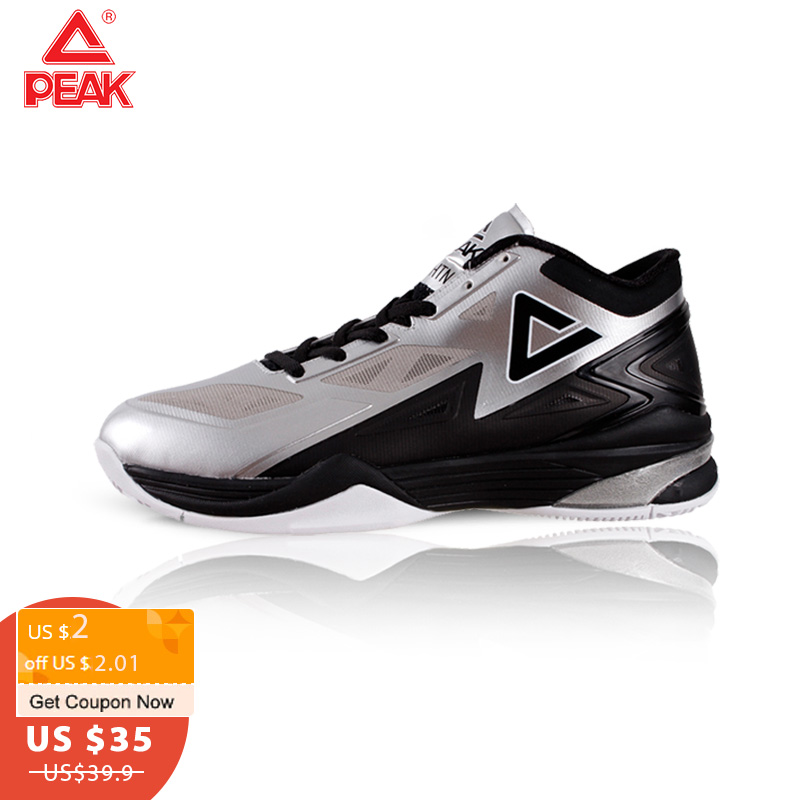 PEAK <font><b>Men's</b></font> <font><b>Basketball</b></font> Shoes Breathable Cushioning Non-Slip Wearable Sports Shoes Gym Training Athletic <font><b>Basketball</b></font> <font><b>Sneakers</b></font> image
