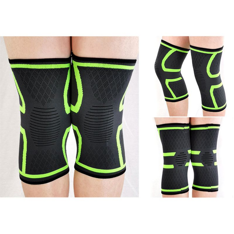 Sports Kneepad Men Pressurized Elastic Knee Pads Support Fitness Gear Breathable Basketball Volleyball Knee Protect 1pcs