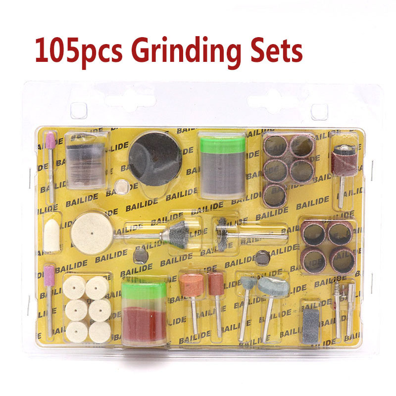 105pcs 2.35/3.17mm Shank Electric Rotary Tool Wood Metal Engraving Accessory For Glass Grinding Polishing Cutting Tools Set