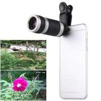 Universal 8x lente do telefone móvel lente telefoto telescópio 8 vezes lente clipe de lupa para o iphone 8 7 plus lente do telefone móvel