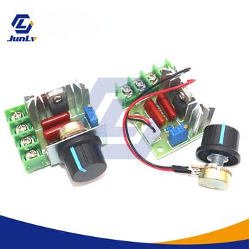 AC 220V 2000W SCR Regulator napięcia ściemniacze ściemniacze Regulator prędkości silnika termostat elektroniczny Regulator napięcia moduł zasilania tanie i dobre opinie NONE CN (pochodzenie) Voltage regulator 2000W AC220V