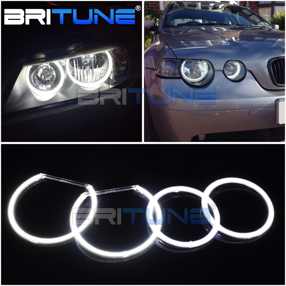 COB Angel Eyes Tuning For BMW E46 ti/td Compact E83 E91 E90 X3 Halogen Headlight LED Halo DRL Car Lights Accessories Retrofit image