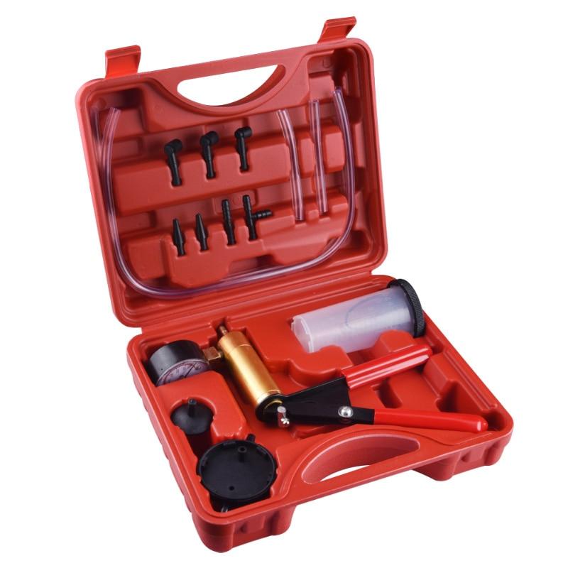 Tenuto In mano di Vuoto Kit Pompa Pompa di Pressione Tester Set Liquido Dei Freni Spurgo di Vuoto Strumento di Test di Auto di Vuoto Pistola Pompa Tester kit