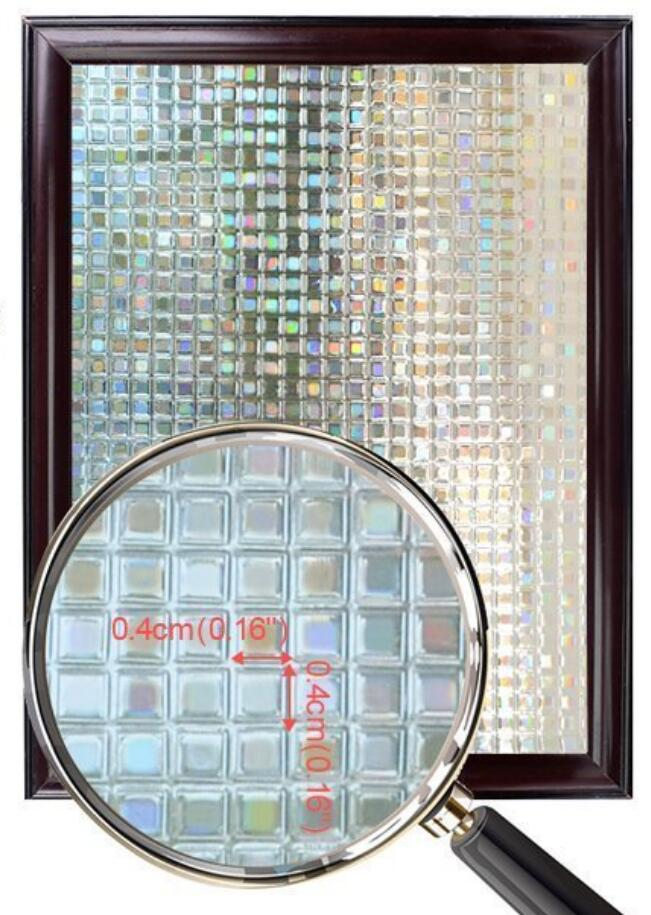 Decorative 3D Window Cling Film Designs Vinyl No Glue Window Privacy Film Static Cling Stained Glass Window Sticker 5